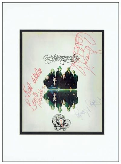 Whitesnake Autograph Signed Display - David Coverdale